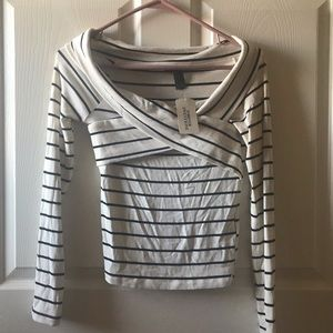 NWT Forever 21 Striped Long Sleeve Sz S